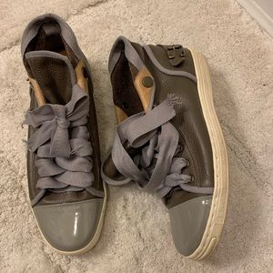 Converse leather Dr. Woo khaki sneakers shoes 7.5